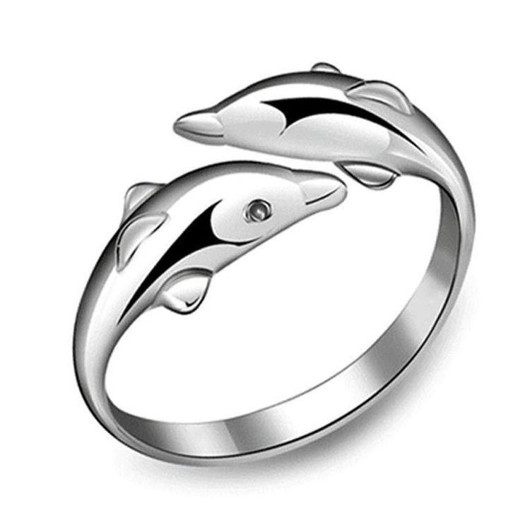 Double Dolphin Ring – mysuitableshop