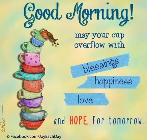 Good morning quote via Good
