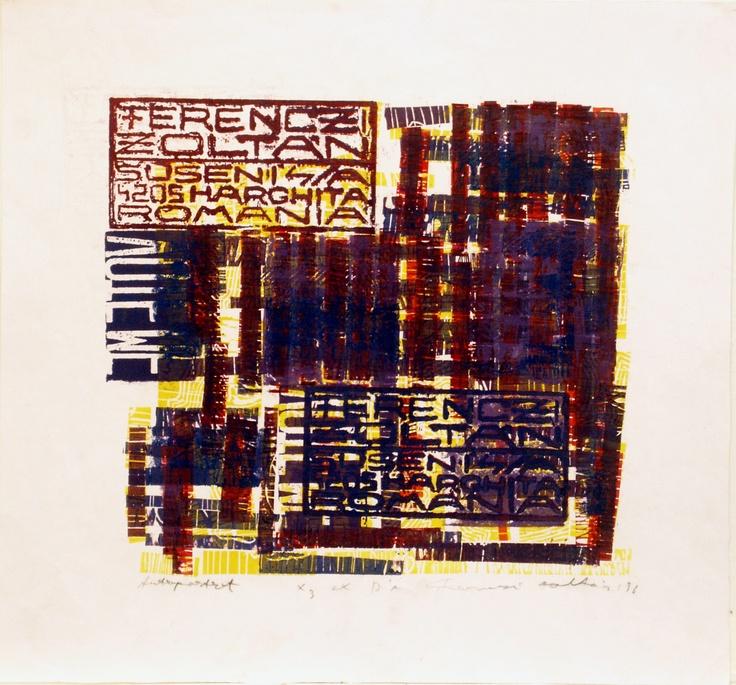 Linocut, zincography, 1996