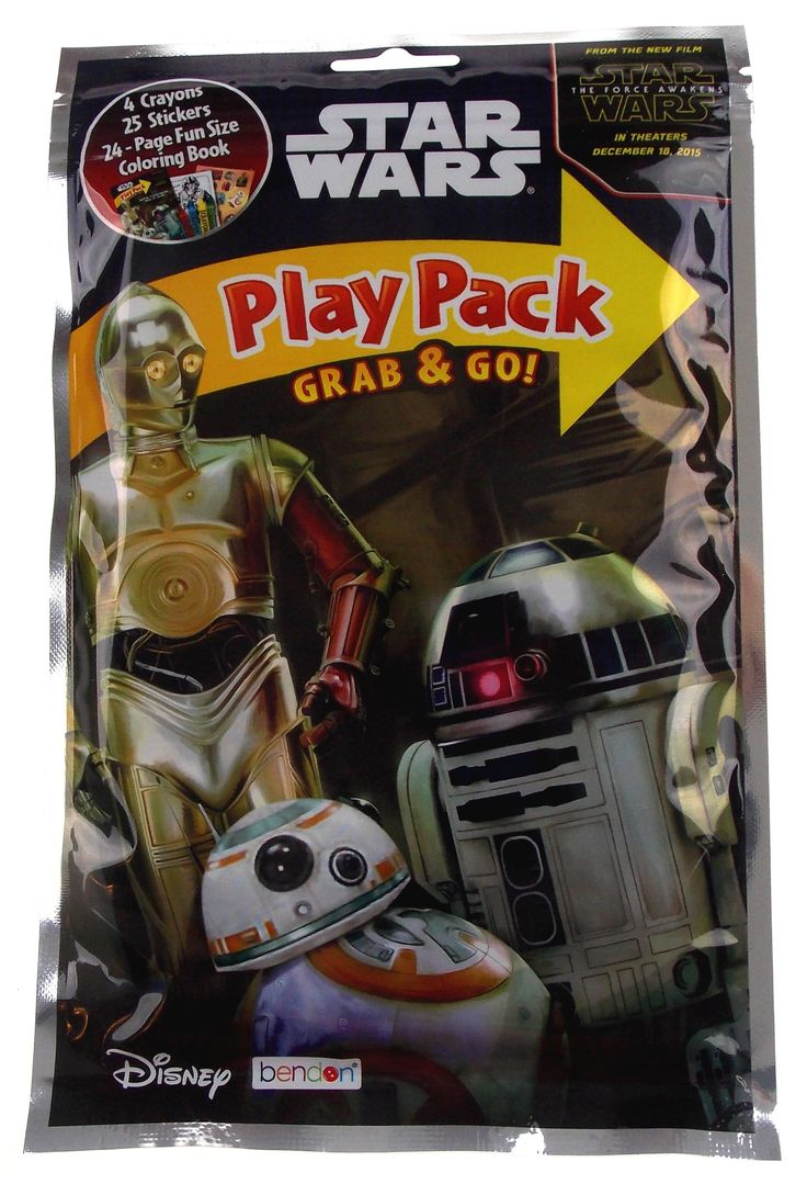 Is this FUN or what? Star Wars Play Pa... Check it out here! http://funsationalfinds.com/products/star-wars-play-pack-r2d2-c3po-bb-8-grab-go-set-12-coloring-book-crayons-stickers?utm_campaign=social_autopilot&utm_source=pin&utm_medium=pin