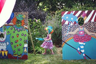 cardboard cutouts and a clown | by tina_grantham