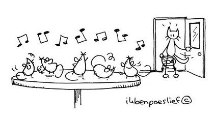 Als de kat van huis is, dansen de muizen op tafel.  Betekenis : als er geen toezicht is, doet men waar men zin in heeft / als er geen toezicht is, doen de ondergeschikten hun zin. E: When the cat's away the mice will play.  F: Quand le chat n'est pas là, les souris dansent.  D: Ist die Katze aus dem Haus, tanzen die Mäuse auf dem Tisch.  I: Quando il gatto non c'è, i topi ballano.  S: Cuando el gato no está, bailan los ratones