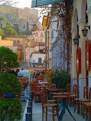 A cafe in Athen's Greece - Heaven!