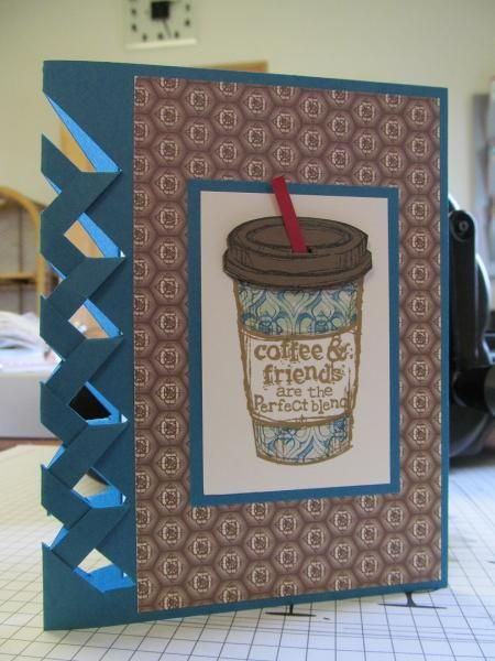Stampin up perfect blend Let's do coffee