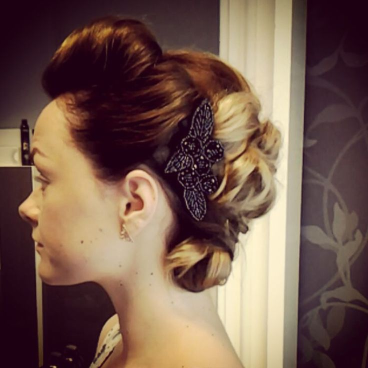 #updo i did for Gallaria #hair #pinup