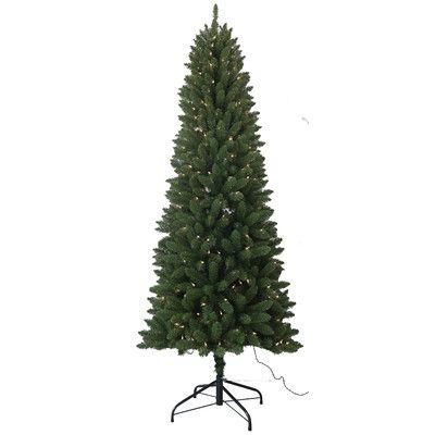 Santa's Workshop 7.5' PVC Slim Artificial Christmas Tree with 350 Unlit Lights