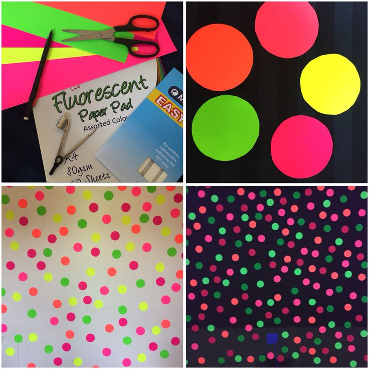 Simple and quick photo booth/ photo backdrop idea for glow in the dark party. Shine a UV light on it and you ready to go.