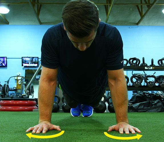 1. Screw your hands into the floor http://www.menshealth.com/fitness/10-secrets-to-the-perfect-pushup/slide/2