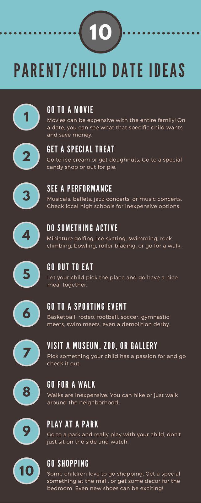 10 Parent/Child Date ideas and list