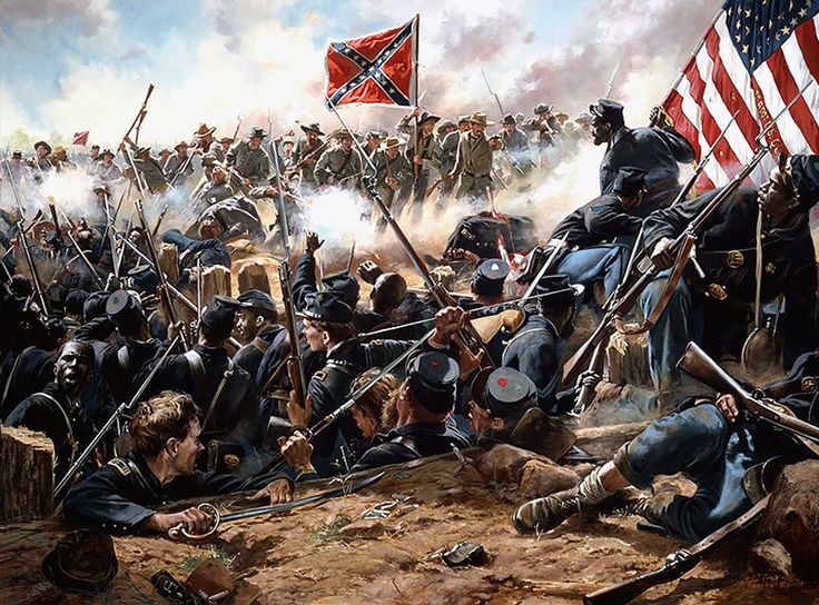 """Mahone's Counterattack - Battle of the Crater, during the siege of Petersburg, July 30, 1864"""