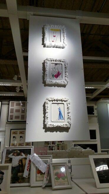 White frames from ikea White frame, Frame, Equipment storage