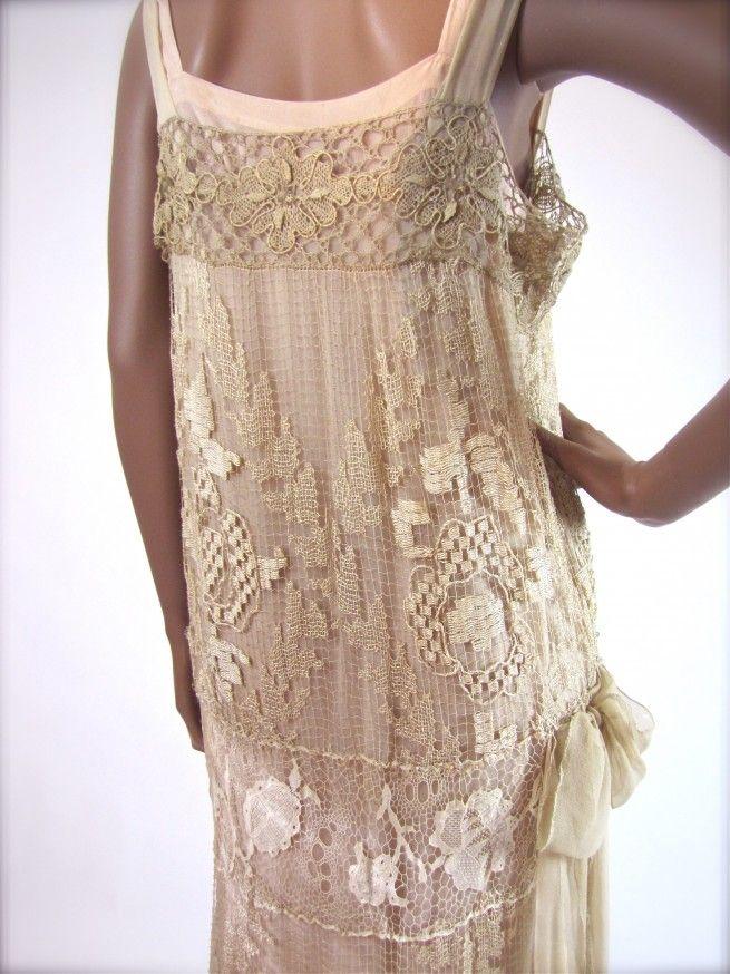 Vintage Filet Lace Gown