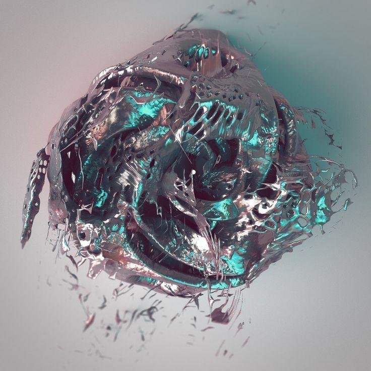 Boltzmann Brain, Digital Render, 2000x2000