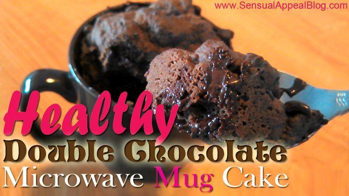 Healthy Double Chocolate Microwave Mug Cake (Gluten Free)   Giveaway