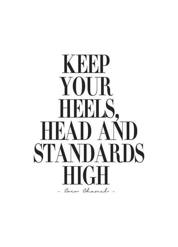 Keep Your Heels, Head & Standards High als Leinwandbild von Honeymoon Hotel | JUNIQE
