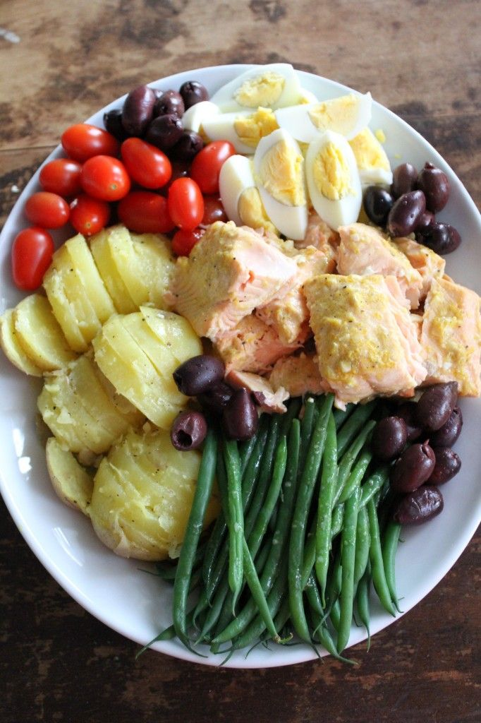 Salmon Nicoise-This tastes even better than it looks.