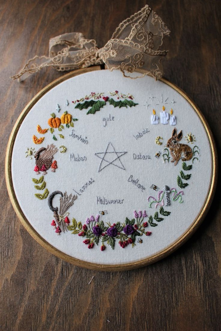 best ideas about the yellow english pagan year wheel the yellow hand embroidery