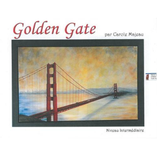 Création de Carole Majeau - Patron de projet à peindre à l'acrylique, souvenir de voyage, golden gate, San Francisco, peinture, pont