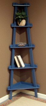 Corner Ladder Shelf- but in white.  would like it wider