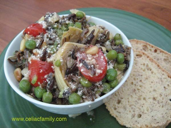 Wild Rice and Artichoke Salad with Parmesan Dressing -- gluten-free