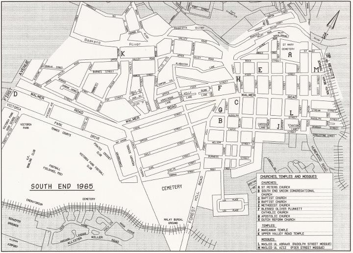 Map of Old South End 1965