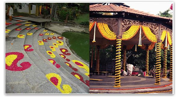 south indian marriage decoration marigold - Google Search