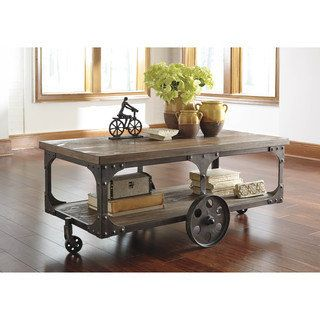 Shop for SB Signature Design by Ashley Vennilux Gray/Brown Rectangular Cocktail Table. Get free shipping at Overstock.com - Your Online Furniture Outlet Store! Get 5% in rewards with Club O!