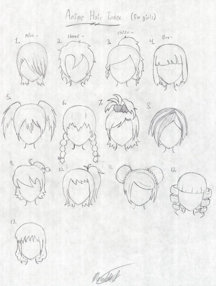 Anime Hair Index by Hanari502.deviantart.com