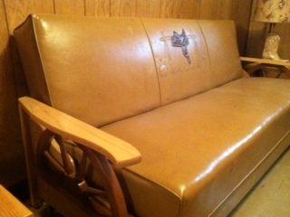Vintage Wagon Wheel Furniture Set Ebay 1950 S