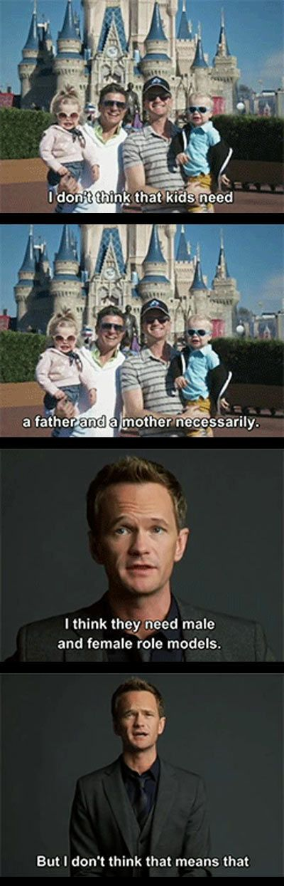 Neil Patrick Harris, everyone. I just love his face, it's so puppy dog-ish... I also agree with what he's saying.