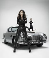 Liz Hurley in leather catsuit latest advert for comparethemeerkat - Leather…