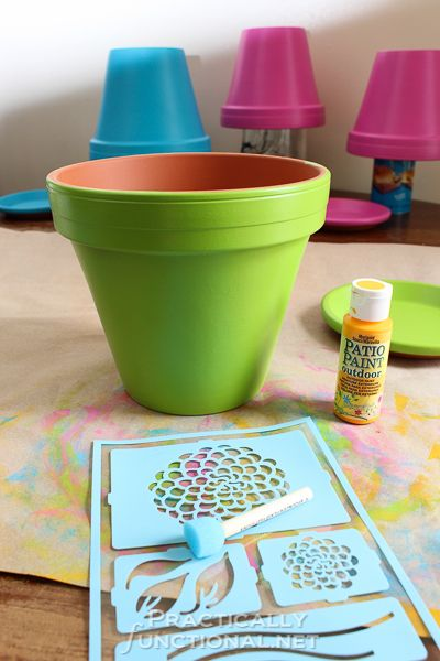 How To Seal Painted Flower Pots | Practically Functional