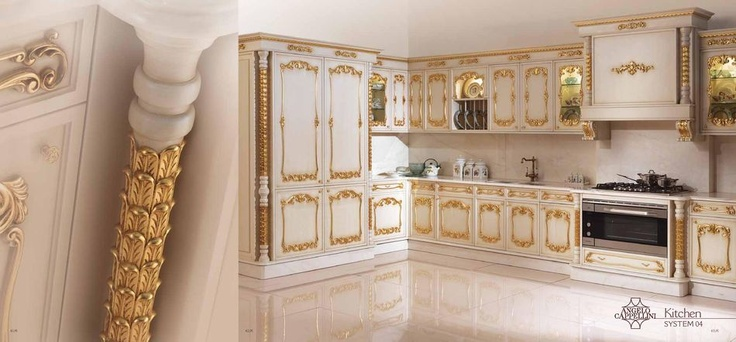 Bohatě zdobená italská kuchyně od Angelo Cappellini, kompletní nabídka na: http://www.saloncardinal.com/galerie-angelo-cappellini-d61