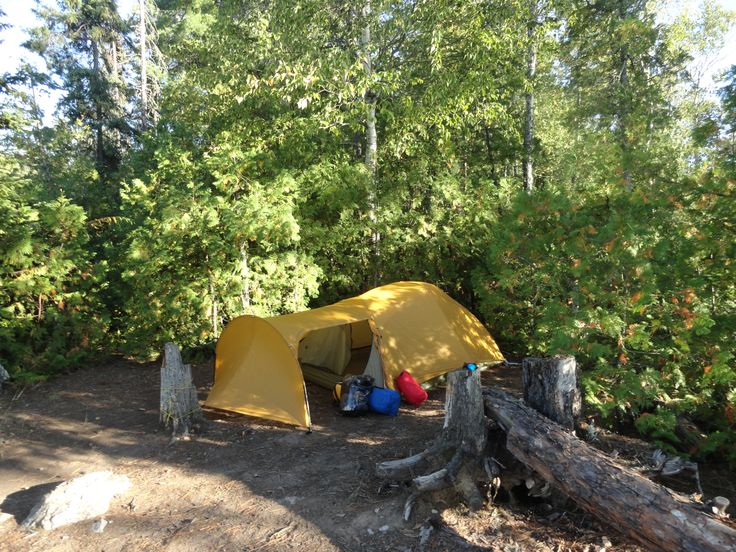 Big Agnes Tent, two person tent from REI. Quetico Provincial Park canoe trip, September 2015.