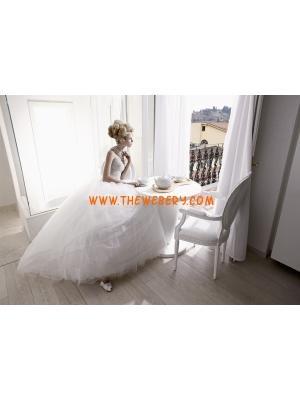 senza spalline di perline di lusso abito bianco da sposa in tulle progettista 2013