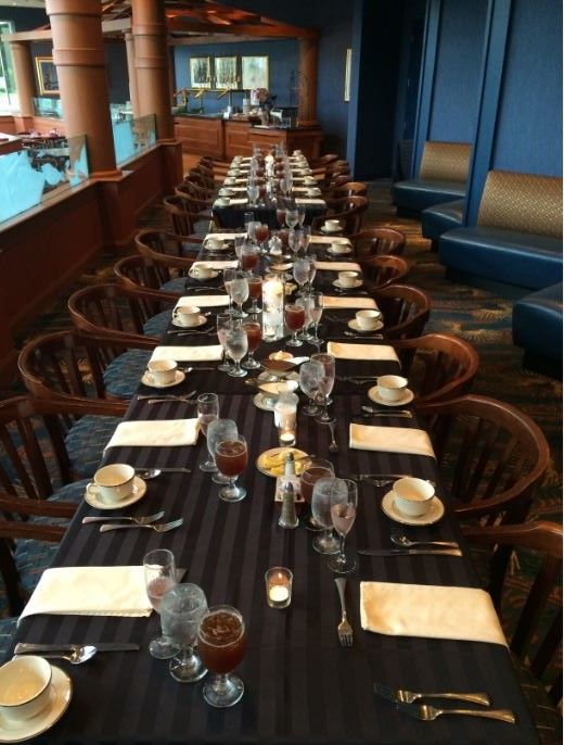 A lovely rehearsal dinner in our America Restaurant  | Holiday Inn Conference Center | Breinigsville, PA | Call 610.391.1000 today for your tour!