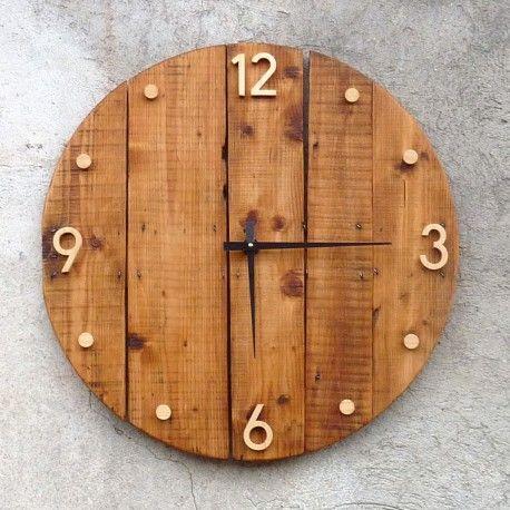 Horloge Murale En Bois Rustique