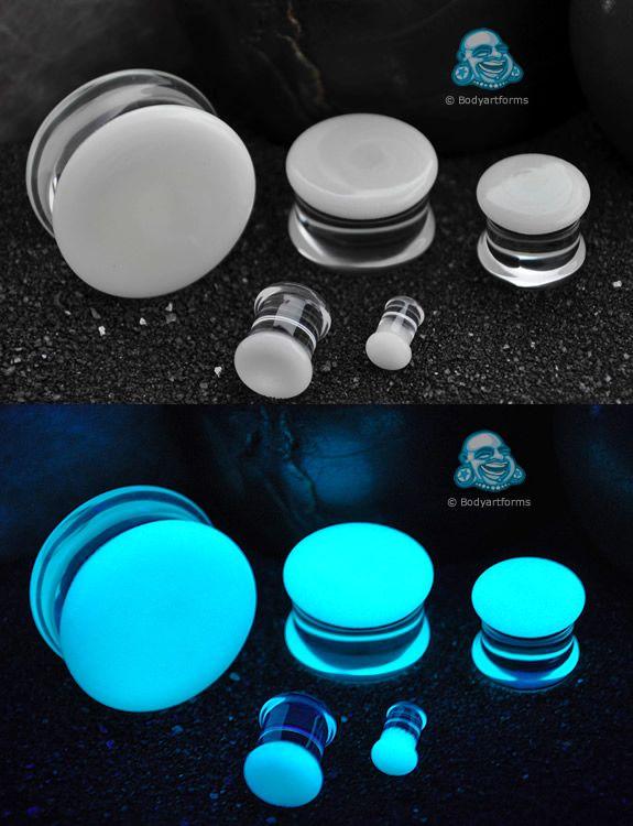 Glow in the dark aqua plugs