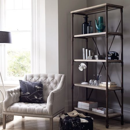 Reclaimed Wood & Pipe Shelving Unit- going to try to make this