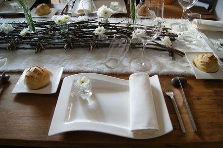 decoration table bois