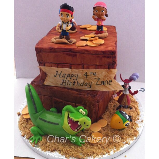 Jake And The Neverland Pirate Birthday Cake Uk