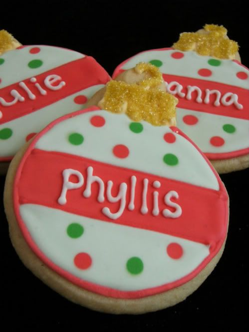 Personalized Christmas Ornament Cookies