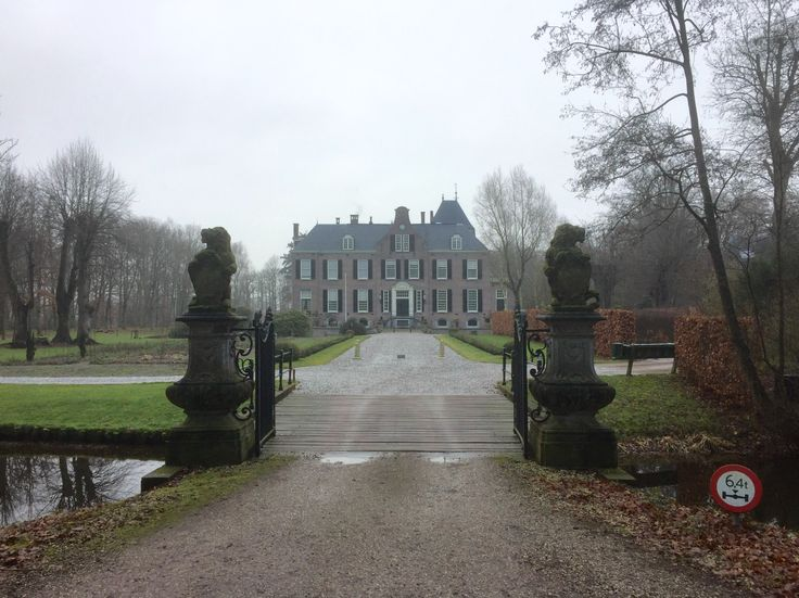 2017-02-04 Kasteel Groot Hoenlo nabij Diepenveen ligt in een mooie omgeving. De laan er naartoe staat vol met rododendrons