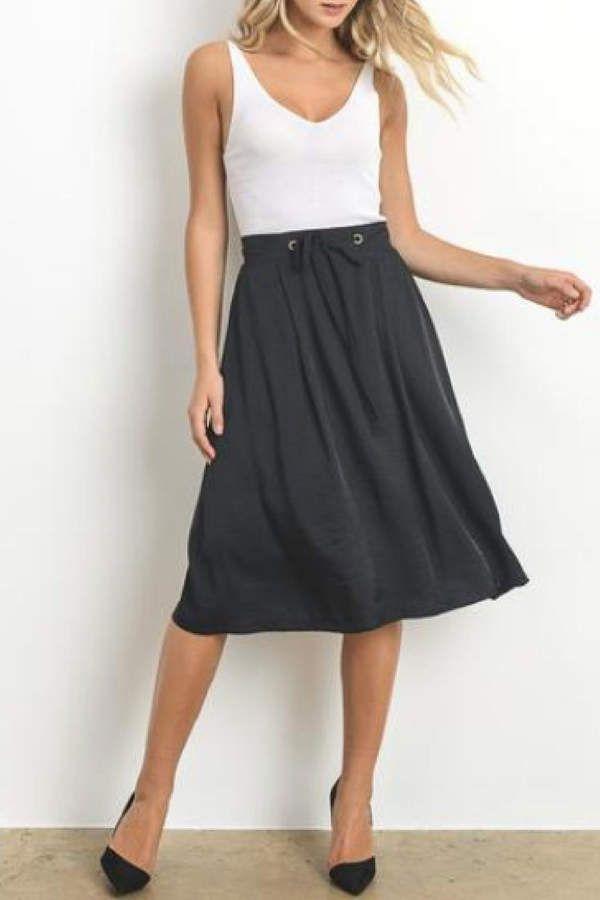 58e4736638613 Doe   Rae Textured Midi Skirt