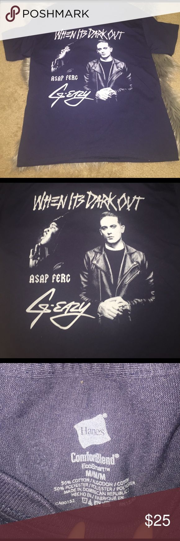 G-Eazy When It's Dark Out Tour T Shirt From his JAN 2015 New York concert. asap ferg on it as well. COLOR IS NAVY. Urban Outfitters Tops Tees - Short Sleeve