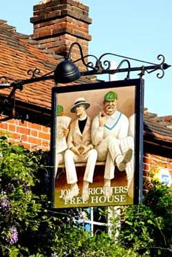 The Jolly Cricketers, set in the heart of the Chilterns in the village of Seer Green.    A friendly pub serving local real ales and fine wines with head chef, Matt Lyons, cooking up a storm of British food, driven by local suppliers and the changing seasons.