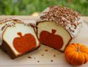 Peekaboo pumpkin pound cake - with these great instructions, you could made this with any flavor and any cookie cutter shape!