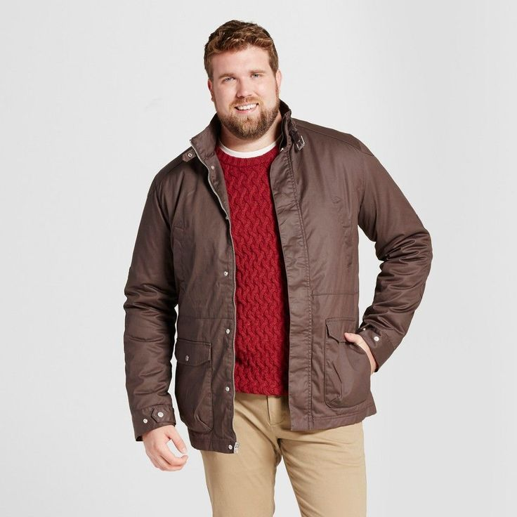 Men's Big & Tall Standard Fit Coated Jacket - Goodfellow & Co Brown 2XBT