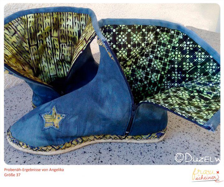 Schnittmuster-Espadrilles-Stiefel-Probenaehen, nähen, sewing, Schuhe, Schnittmuster, Nähanleitung, Pattern, Espandrilles, Tutorial, boots, STiefel,