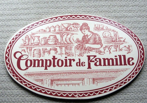 comptoir de famille french country large sign wood rare store display kitchen old signage. Black Bedroom Furniture Sets. Home Design Ideas